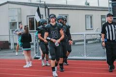 High school football team at field. A high school football team at pregame Stock Images
