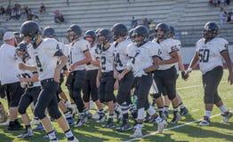 High school football team Stock Photography