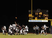 High School Football Action royalty free stock images