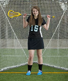 High School Girls Lacrosse player Royalty Free Stock Photography