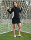 High School Girls Lacrosse player Royalty Free Stock Photos