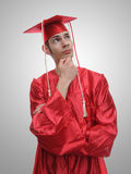 High School Graduate Future Thinking Stock Image