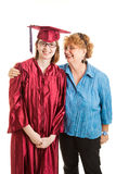 High School Graduate and Proud Mom Vertical Royalty Free Stock Image