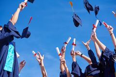 High school graduates students Royalty Free Stock Image