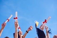 High school graduates students Stock Photos