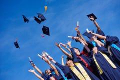 High school graduates students Royalty Free Stock Photography