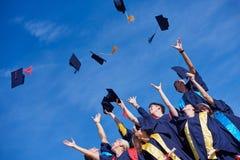 High school graduates students Royalty Free Stock Photos