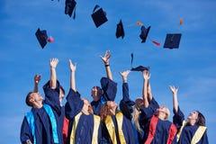 High school graduates students Stock Photo