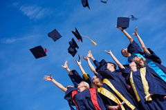 High school graduates students Royalty Free Stock Photography