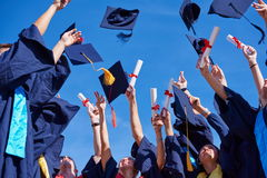 High school graduates students Royalty Free Stock Images