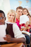 High School: Handing Back Graded Tests Royalty Free Stock Photo
