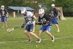 High School Lacrosse Stock Image