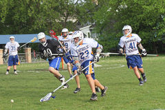 High School Lacrosse Royalty Free Stock Photography