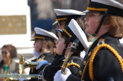 High School Marching Band New York City Parade Royalty Free Stock Photo