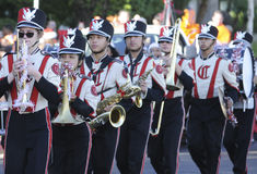 High school marching band Stock Images