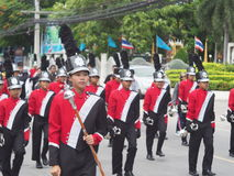 High school marching band. Parade in thailand Stock Photo