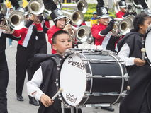 High school marching band. Parade in thailand Stock Images