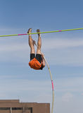 High School Pole Vaulter Stock Image