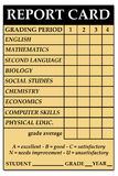 High school report card. Report card with high school courses Stock Photography