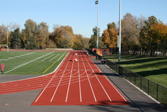 High school running track Stock Image