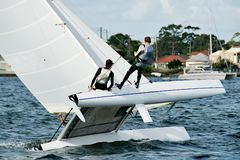 High School Sailing Championships 3. Stock Photo