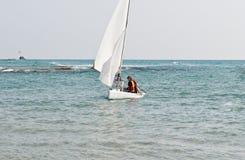 High school sailing team. Royalty Free Stock Photo