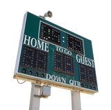 High School Score Board. Isolated on White Stock Photos