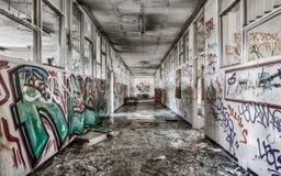 High School secundaria abandonada en Sydney imagen de archivo