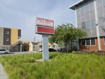 High School secundaria de Juan C Fremont en Los Ángeles del sur fotografía de archivo libre de regalías