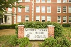 High School secundaria de las arboledas de Webster imagen de archivo libre de regalías