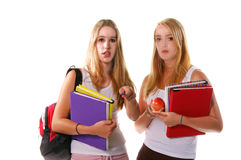 High School Senior Girls Royalty Free Stock Photo