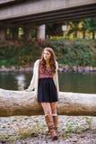 High School Senior Portrait Outdoors Stock Images