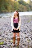 High School Senior Portrait Outdoors Stock Photography