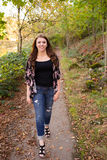 High School Senior Portrait Outdoors Royalty Free Stock Images
