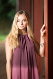 High school senior poses for portraits Stock Images