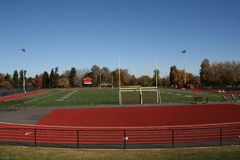 High school sports field Stock Photo