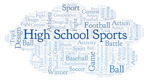 High School Sports word cloud. Made with text only vector illustration