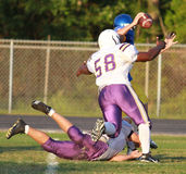 High School Spring Football Stock Photography