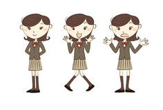 High school studen with various poses Royalty Free Stock Image