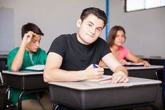 High school student in class Stock Photos
