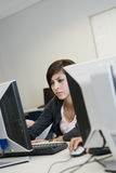 High School Student In Computer Lab Royalty Free Stock Photography