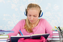High school student with homework Stock Photography