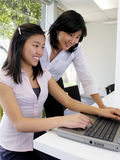 High School Student Learning Computer Skills Stock Image