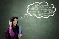 High school student learning multilingual Royalty Free Stock Photos