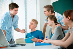 High school students Stock Photos