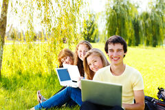 High school students stock images