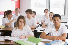 High school students in class Royalty Free Stock Photos