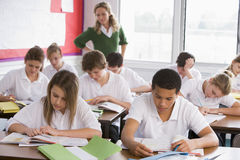 High school students in class Royalty Free Stock Photo