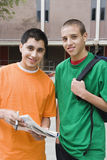 High School Students In College Campus Stock Photography