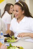 High school students eating Stock Images